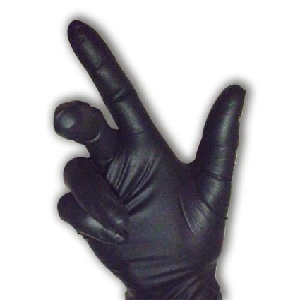 Gant jetable nitrile noir Prolite 1