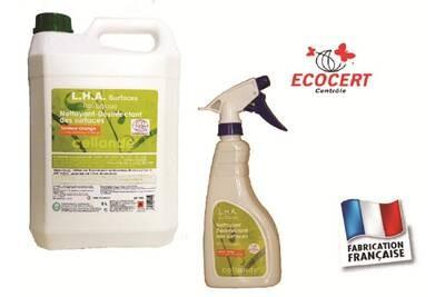 Nettoyant désinfectant de surfaces LHA , écologique, en bidon 5 l- 1