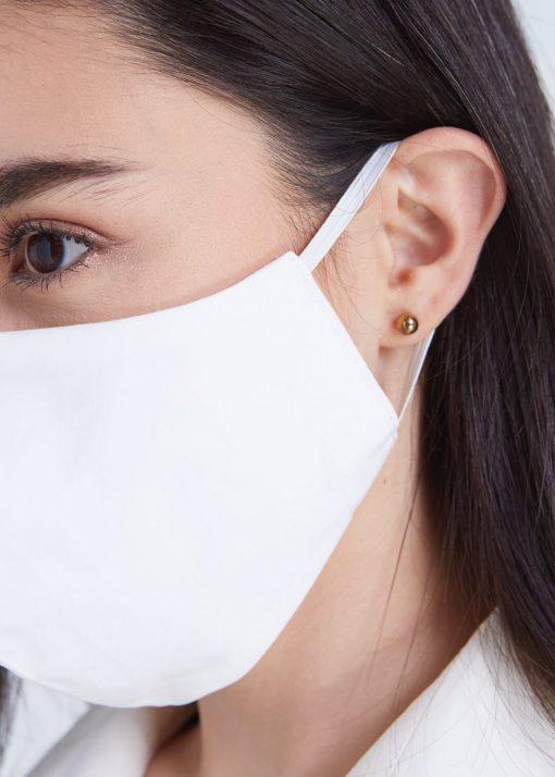 Masque barrière en mousseline/coton - LAVABLE 100 fois 2