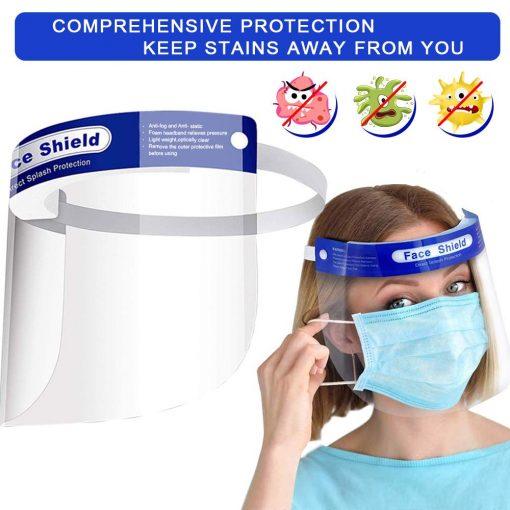 Visière de Protection intégrale en Plastique Transparent pour éviter la salive, gouttelettes avec Bande élastique 6